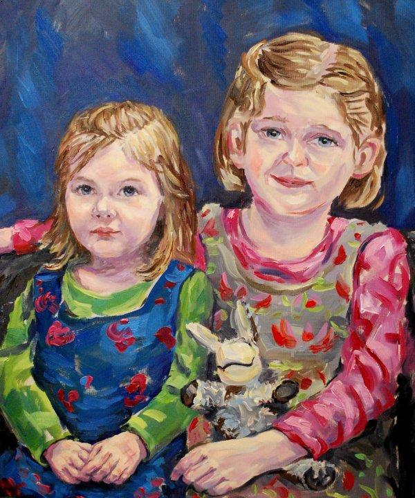 Ölportrait - Portrait in Öl auf Leinwand
