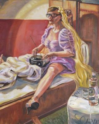 Life-Malerei-Portrait von Mona Hollerwöger-Performance