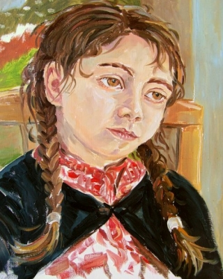 Sardinien-spontanes Kinderportrait