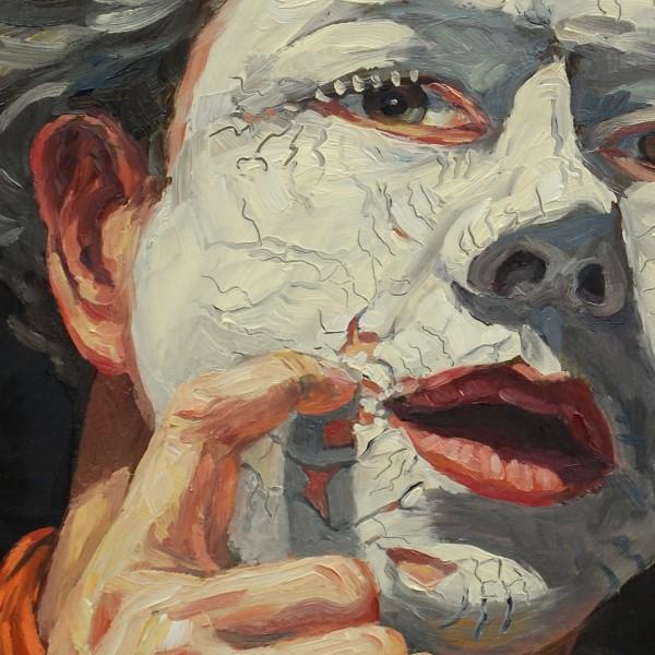 Stephan Ois - Selbstportrait in Öl auf Leinwand