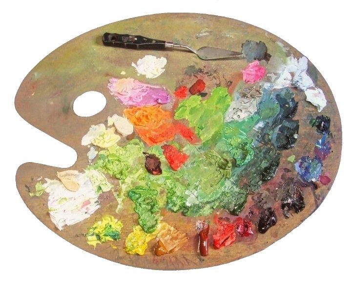 Das Werkzeug des Portraitmalers - Palette für die Porträtmalerei
