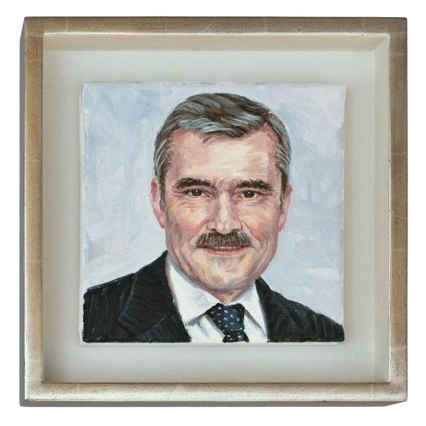 Das Ölportrait von Alois Steinbichler, gemalt von Stephan Ois. Technik: Alla Prima-Malerei, Öl auf Leinwand