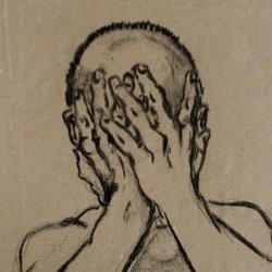 Stephan Ois_Portraitzeichnung, Kohle auf Papier