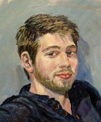 Ölportrait - Hubert - Aufragsportrait auf Leinwand