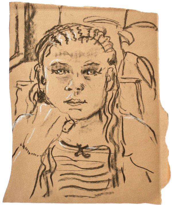 Kohlezeichnung-Portrait