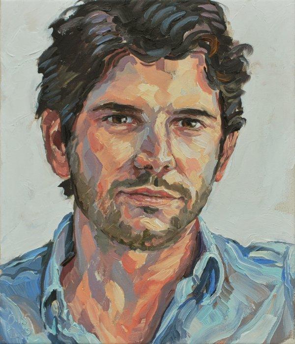 Ölporträt, angefertigt vom Porträtmaler Stephan Ois 2020, Porträtauftrag