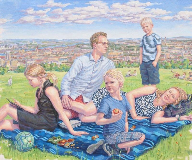 Familien-Oelporträt_Deutschland Österreich Schweiz